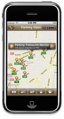 Parking Dijon Carte